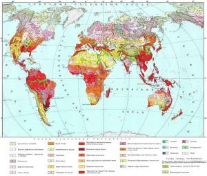 Рис. 4.2.1.1. Почвенная карта мира [35].