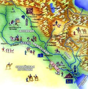 Рис. 4.7.1.3.1. Карта Месопотамии и Шумера.
