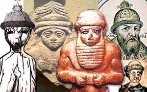 Рис. 4.7.1.3.5. Слева направо: Макошь из Авдеево, Русь, 21 тыс. до н.э.