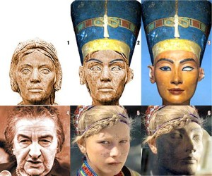 Рис. 4.7.1.4.1. Сравнение облика египетской царицы Нефертити (3)