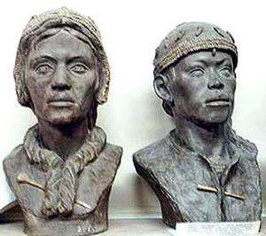 Рис. 4.5.1.1.1. Дети, жившие 27 тыс. лет назад. Сунгирские младенцы.