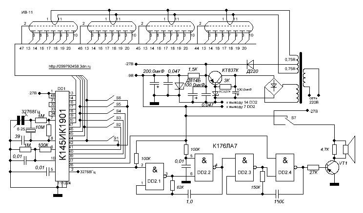 Схема электронных часов своими руками фото 817
